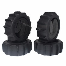 4Pcs RC 1/8 Buggy Snow Sand Paddle Tires With Foam Inserts OD:125mm ID:80mm Width:43mm For Off Road Model Car Baja Tyre