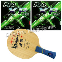Pro Table Tennis Combo Paddle Racket KTL Instinct+ Shakehand Blade with 2x Pro XP Rubbers