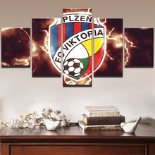 Modular Canvas Wall Art Posters HD Printed Soccer Painting Frame 5 Pieces Football Pictures Sports Boys Room Home Decor PENGDA