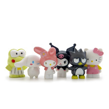 New Arrival Hello Kitty 4cm Cute Dolls Cartoon PVC Action Figure 6pcs/set Children Birthday Gift