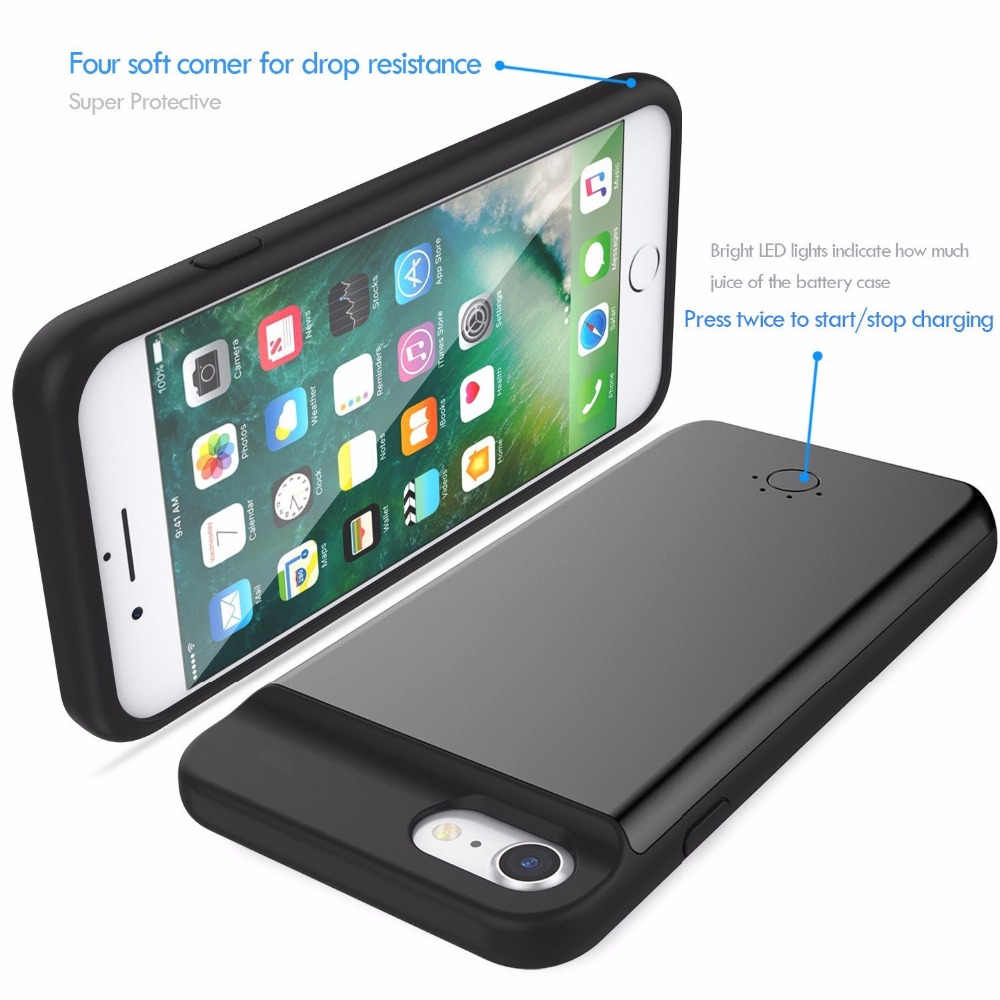 Power case for iPhone 7 Battery Charger Case For iPhone 6 6Plus Power Bank Case Ultra thin Case for iPhone External Backup Battery Charging Phone Case for iphone (5)