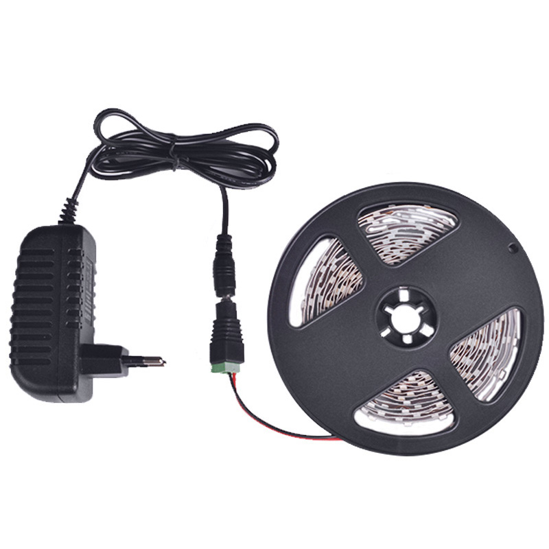LED-Strip-Light-5m-60LEDs-m-Single-Color-3528SMD-Flexible-LED-Tape-12V-Power-Supply-2A