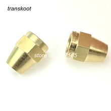 "1/4"" 3/8"" 1/2"" Brass Air Brake Copper Tubing Brass Compression Nut Brass Fitting"