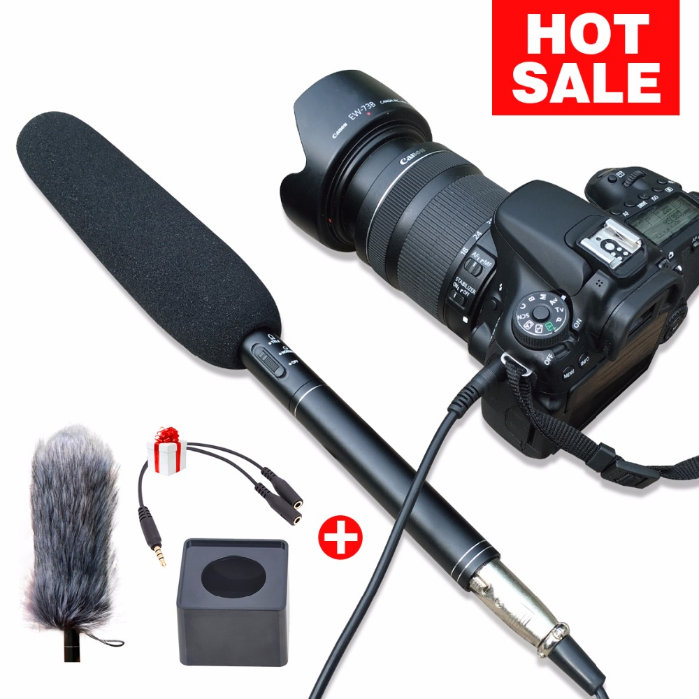 Ulanzi Arimic Professional Shotgun Interview Microphone Directional Condenser MIC for DSLR  DV Camcorders  Video Camera Mic<br>