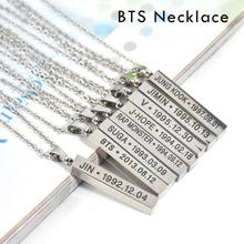 BTS Colar Chocker Choker Necklaces Women Collar Girl Fashion Jewelry Necklace Long Fans Jewellery Stainless Steel Pendant D10(China)