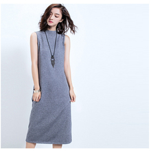 2016 Women Winter Knitted Dresses FIVE Color Plus Size Stretchy Knitted Sweater Sleeveless Dress Casual Dress Lady Clothing