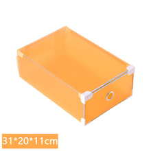 Tenske box hot sale 1PC Foldable Clear Plastic Shoe Box Drawer Stackable Storage Organiser Non-toxic*30 GIFT Drop shipping