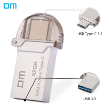 DM PD019 Type-C OTG USB 3.0 Flash Drive 32GB 16GB 64GB Pen Drive Smart Phone Memory Mini USB Stick Type - C 3.1 Dual Double Plug