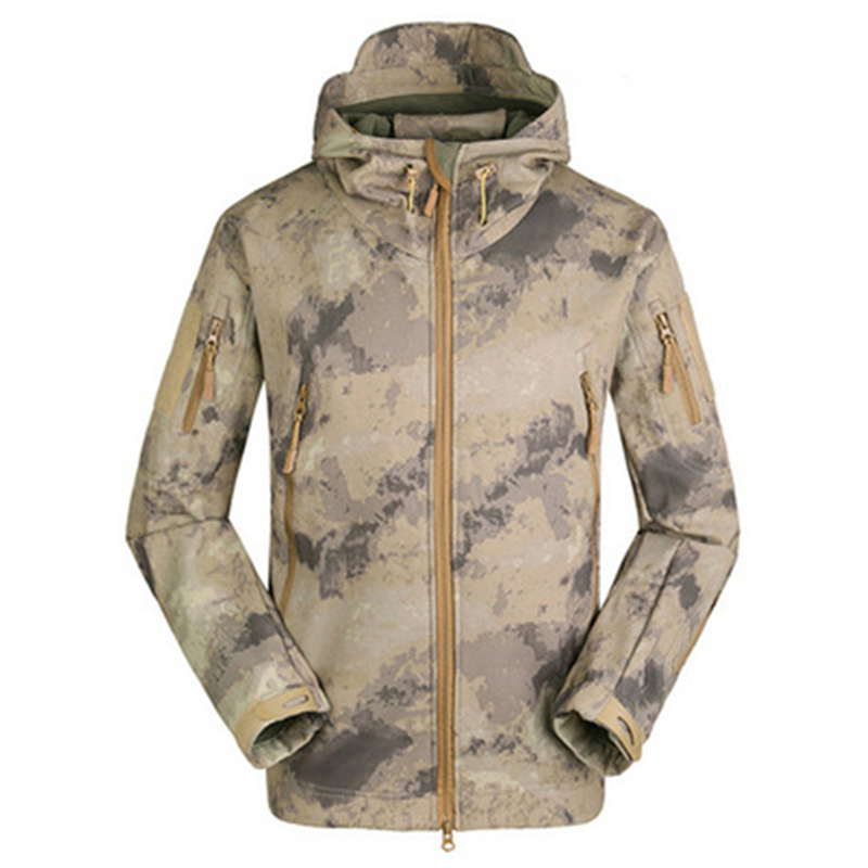 Shark skin Soft Shell High Quality TAD V 4.0 mulit-pocket Army Clothing Men Military Tactical Windproof Jacket  Hoodies