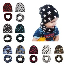 Retail Wholesale Boy Girl Hat Scarf Set 2 Pcs in Set Cartoon Baby Hat Cap Infant Gift(China)