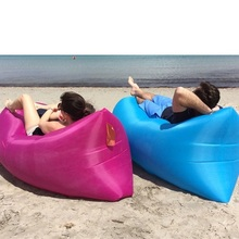 Inflatable lazy sofa air blow tank gas bed folding mobile Tourism FREE SHIPPING