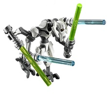 Single Sale PG630 Super Heroes Star Wars General Grievous With Lightsaber W/Gun Model Building Blocks Bricks Toys for children(China)