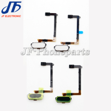 10pcs/lot for samsung galaxy s6 home button flex cable black white and gold replacement parts with fingerprint sensor