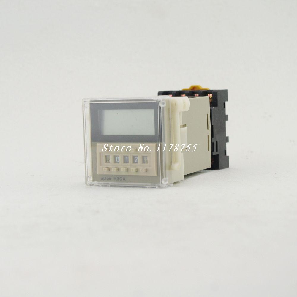 Time Relay On Delay SolidState H3CA-8H 24/110/220V 8Pins SPDT DIN Track Mounting Timing functions on delay<br>