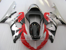 Fit for suzuki fairings gsxr1000 00 01 02 red black white silver motorcycle fairing kit GSXR 1000 2000 2001 2002 IV01