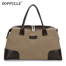 DOPPULLE New Vintage Man Travel Bags High Quality Canvas Large Capacity Women Weekend Luggage Travel Duffle Bags Folding Handbag(China)