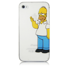 For iPhone X 8 6 6S 7 Plus 5 5S SE Homer Simpson Eating Logo Case