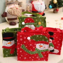 Christmas Santa Snowman Gift Bag Handbag Non-woven Candy Gift Bag For Children Christmas Decoration Supplies JK1413