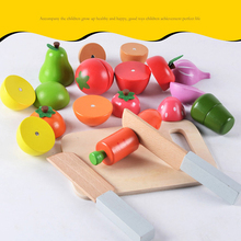 13pcs/set Children Wooden Cutting Fruit Vegetable Kitchen Magnetic Toys Colorful Pretend Educational Food Toys for Kids with Box(China)
