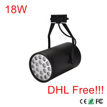 20Pcs Super Bright 18W LED Track Lamp Spot 1800lm Track Light Spot Down Light 85-265V LED indoor Lighting DHL/Fedex Free ship!!!