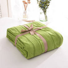 Knitted Plaid Cotton Soft Blankets Adult Bedding Quilt Spring Autumn Sofa Cover Travel Comforter Knitted Baby Blanket