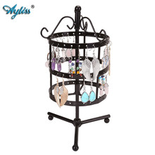 Ayliss 72 Holes Earring Bracelet Necklace Display Jewelry Holder Metal Show Rack Hanger Rotate Jewelry Rack Nice Gifts For Women