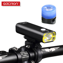 GACIRON Rechargeable bike light Super Bright 400 lumens light Cycling front led lights waterproof big capacity battery 5 modes(China)