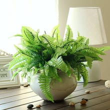 7-fork Green Grass Artificial Plants For Plastic Flowers Household Store Party Decoration