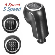 5/6 Speed Gear Head Stick Shift Knob Black For VAUXHALL /OPEL /ASTRA /CORSA D #5738025 Black & Chrome ABS(China)