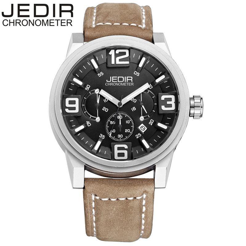 2017 JEDIR Fashion New Mens Stop Quartz Day Watch Brand Military Sports Relogio masculino Gift Box Free Ship<br>