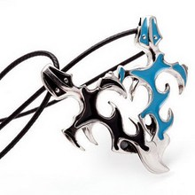 Titanium Stainless Steel Men Jewelry Cross & Sword Necklaces Pendants Black Blue flame courage overbearing Evil necklace P40