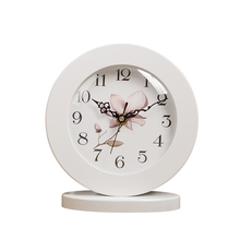6 Inch White Classic Wooden Silent Table Clock Retro creative Art Desk Clock Home decro(China)