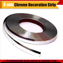6MM x 1000CM Car Door Roof Tailgate Grilles Chrome Silver Moulding Decorative Strip Trim Protector Sticker Waterproof(China)
