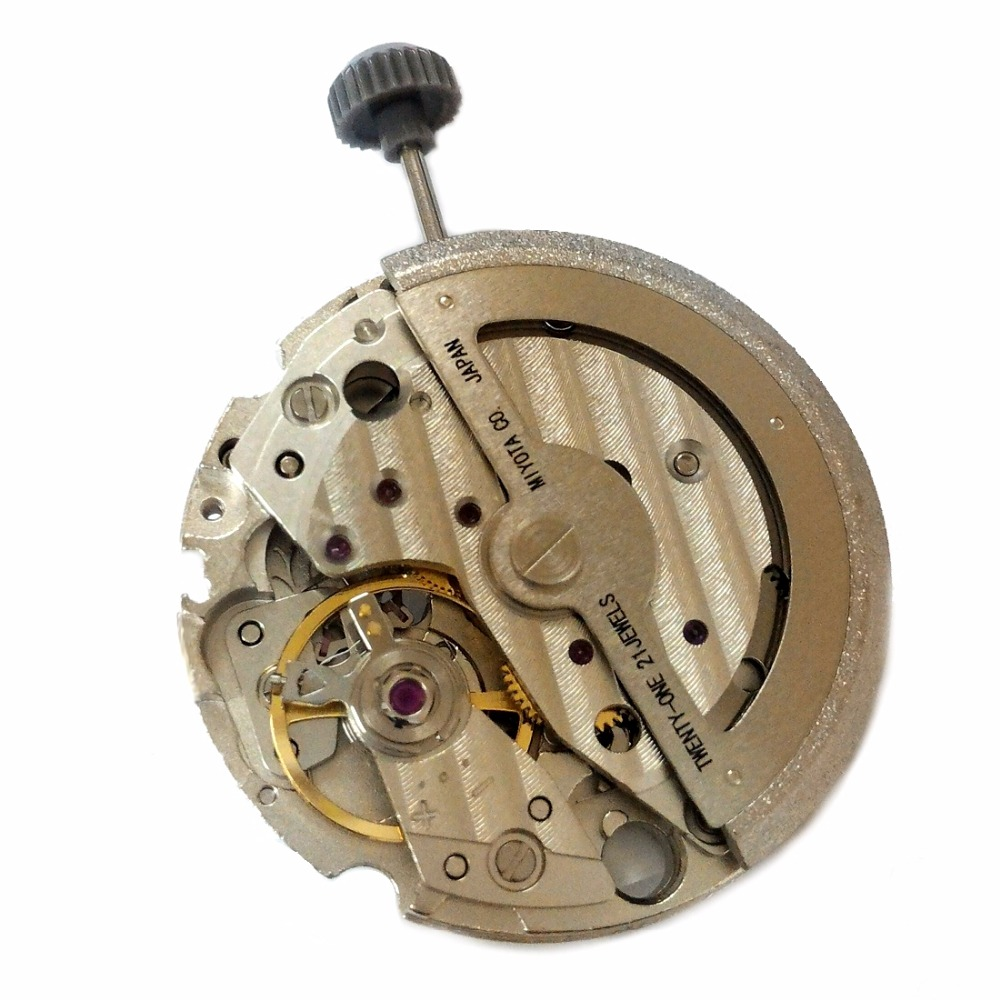 Miyota 8217 Automatic Mechanical 3 Hands Date 21 Jewels Japan Made 24 Hour Hand <br>