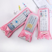 BF040  Lovely bowknot case grain air-conditioning remote control remote control TV cover dustproof protective sleeve
