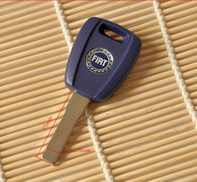 Free shipping For Fiat key shell SIP22 Blue Blank Shell for Fiat Ducato Transponder Key (SIP22)