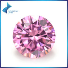 100pcs 6.25-12mm Pink Color Wholesale 5A CZ Stone Brilliant Round Cut Cubic Zirconia For Sale Synthetic Gemstone
