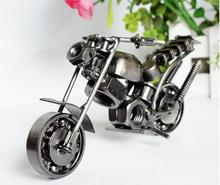 Vintage Mini Iron Metal Harley Motocycle Model Scooter Vehicle Toy for Children Kid Birthday Christmas Gift Craft home Decor(China)