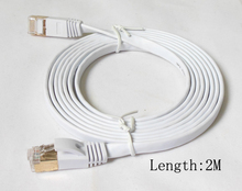 1m 2m Networking Cable Ethernet Cable Cat7 RJ45 M/M Thin High Speed Flat Shielded Twisted Pair Internet Lan