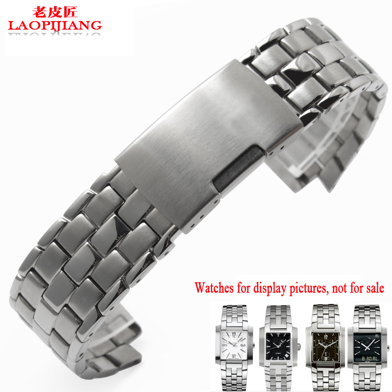 laopijiang Solid stainless steel bracelet male special parts convex steel 14mm For T60 watch strap<br>