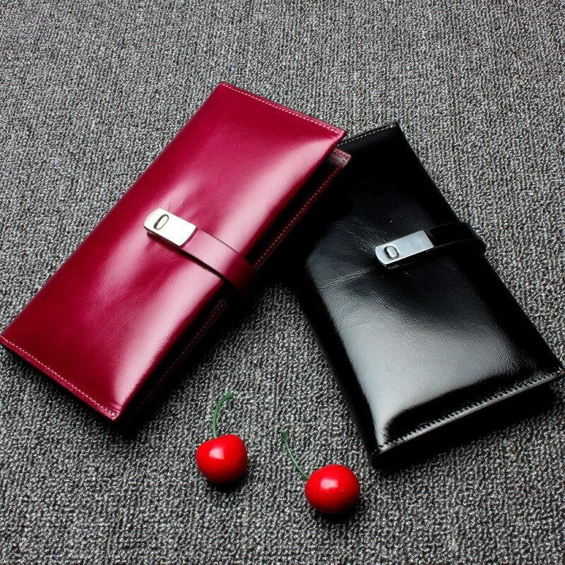 Mens Womens Genuine Leather Long Wallet Purse Fashion Clutch Handbag<br>