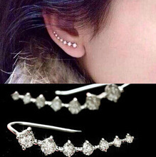 LUCKY YEAR One PAIRS Ear Cuff Wrap Crystal Earrings Newest High Quality Summer Style Ear Cuff Piercing Clip Jewelry For Women