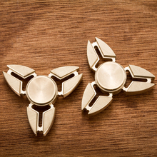 3 Stye New Tri-Spinner Fidget Toys Hand Spinner Triangle Torqbar Brass EDC Finger Toy For Focus ADHD Autism