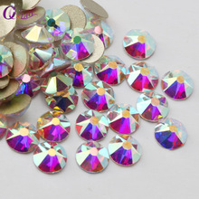 8 big + 8 small Cut Facets Rhinestone Crystal Clear /Crystal AB Flatback Non Hotfix Rhinestones Decoration Crystal Stones(China)