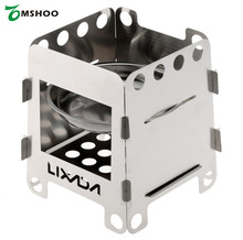Lixada Stainless Steel Wood Stove Camping Lightweight Portable Outdoor Stove Picnic Alcohol Stoves with Storage Bag