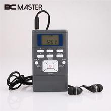 BCMaster Mini FM Radio Receiver Slim Handheld Frequency Module Digital LED Display Radio Powered By AAA Battery With Earphone