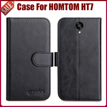 Buy Hot Sale! HOMTOM HT7 Case New Arrival 6 Colors High Flip Leather Protective Phone Cover HOMTOM HT7 Case for $5.82 in AliExpress store