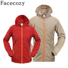 Facecozy Summer Camping Jacket Men&Women Quick Dry Fishing&Hunting Clothes Outdoor Breathable Thin Hiking Jackets Pluse Size 4XL