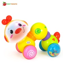 High Quality Baby Children Electric Educational Musical Inchworm With Light Twist Press N Go Inchworm Developmental Baby Toys(China)