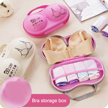 Women Portable Bra Storage Boxes Various Lovely Print Lady Underwear Protect Case Bras Lingerie Travel Bags Storage Orangizer